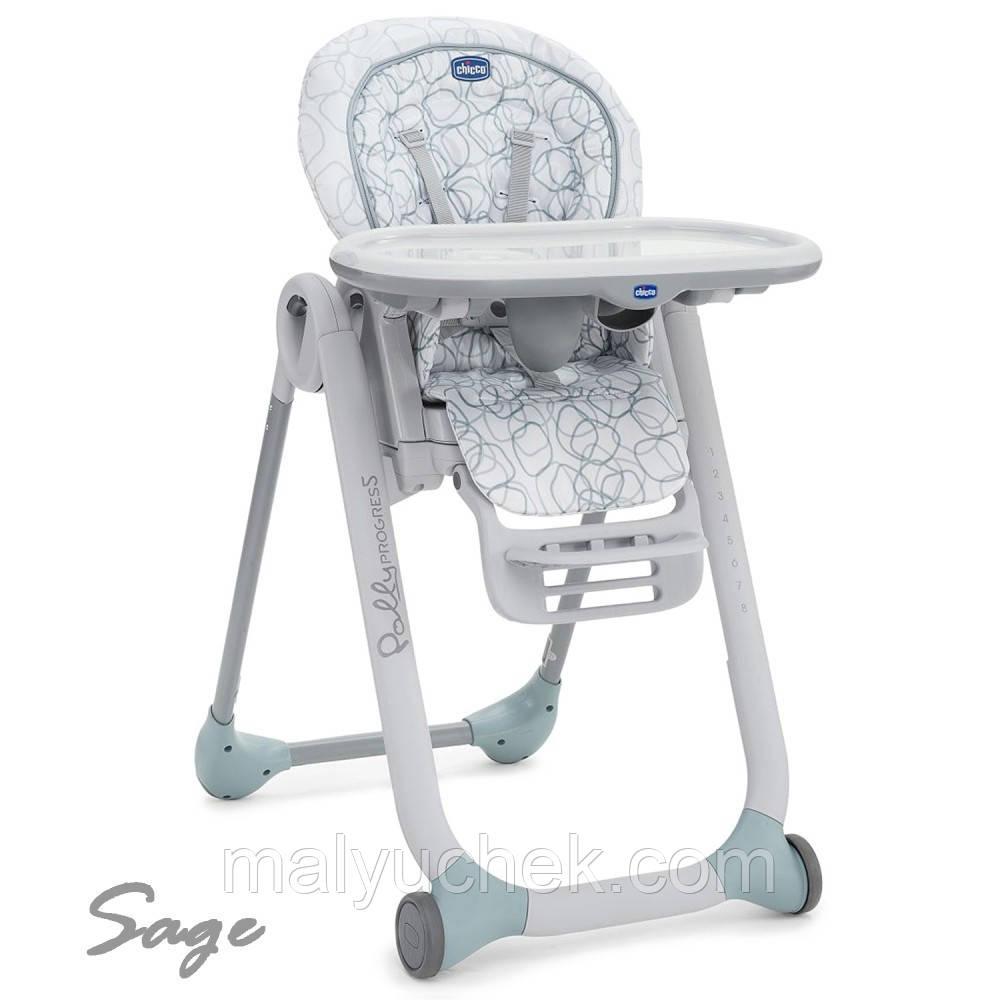 Крісло для годування Polly Progress Sage Chicco