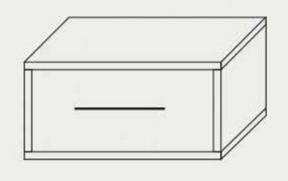 Тумба прикроватная Комфорт (схема)