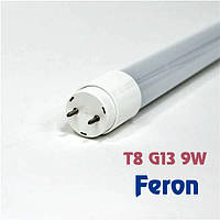 Лампа светодиодная Feron LB-226 9W T8 G13 230V 6400K в стеклянном корпусе