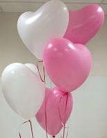 """Воздушные шары латексные  пастель """"Розовое сердце"""" 25 см Италия"""