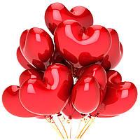 """Воздушные шары латексные  пастель """"Красное сердце"""" 25 см Италия"""