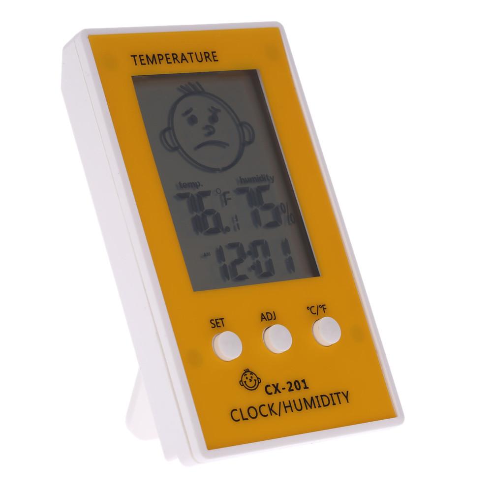 Термометр гигрометр часы 3 в 1 домашний CX-201