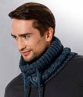 Теплый вязанный мужской шарф снуд от Loman Польша
