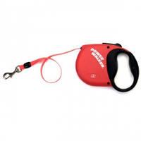 Рулетка-поводок для собак Power Walker, красный | 10кг | 5 м.