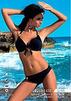 Купальники для большой груди Volin,Sara v.1 70G/S, полиамид-80%,эластан-20%, Раздельный купальник, Халтер, Полиамид, Слип, Черный, пластмасса, пряжки в виде латунного бочонка