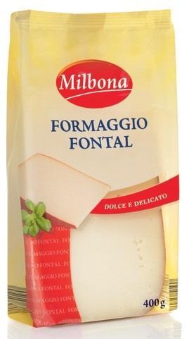 Сыр прессованный Formaggio Fontal Milbona, 400 г.