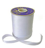 Косая бейка (атласная) - цвет белый