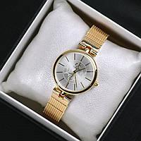 Часы женские наручные Calvin Klein Mira золотые с белым циферблатом, часы дропшиппинг