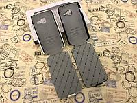 Кожаный чехол флип Melkco для Samsung Galaxy Ace Duos S6802 белый и чёрный