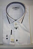 Белая мужская рубашка Nens с длинным рукавом
