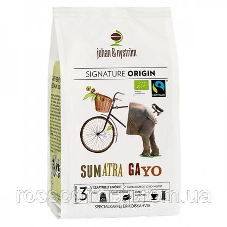 Кофе в зернах Johan&Nyström Sumatra Gayo Mountain Fairtrade 250 г