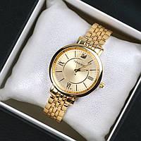Часы женские наручные Swarovski Ritta золотые, часы дропшиппинг