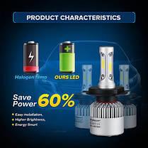 Світлодіодна лампа H4 PATROL 72 Вт (ціна за 1 штуку 36 Вт ) 4600LM пара, 6500K, фото 3