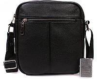 Мужская кожаная сумка для документов черная ALVI av-91