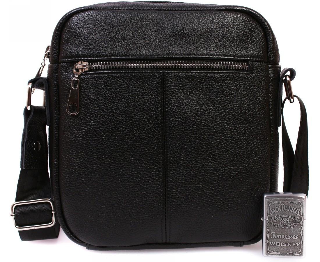 a028759cae36 Мужская кожаная сумка для документов черная ALVI av-91 - АксМаркет в Киеве