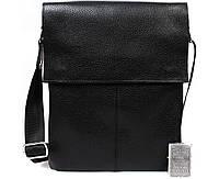 Мужская кожаная сумка-планшетка черная ALVI av-101black