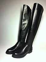 Комбинированные высокие зимние кожаные сапоги фирмы Lora