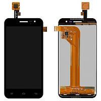 Дисплей (экраны) для телефона Jiayu G2F Широкий Шлейф + Touchscreen Original Black