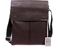 Мужская кожаная сумка-планшетка коричневая ALVI av-101brown