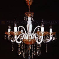 Люстра со свечами хрустальная IMPERIA шестиламповая LUX-452441