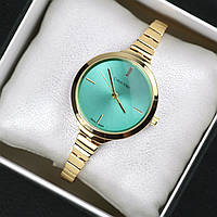 Часы женские наручные Calvin Klein Omnia золото с мятой, часы дропшиппинг