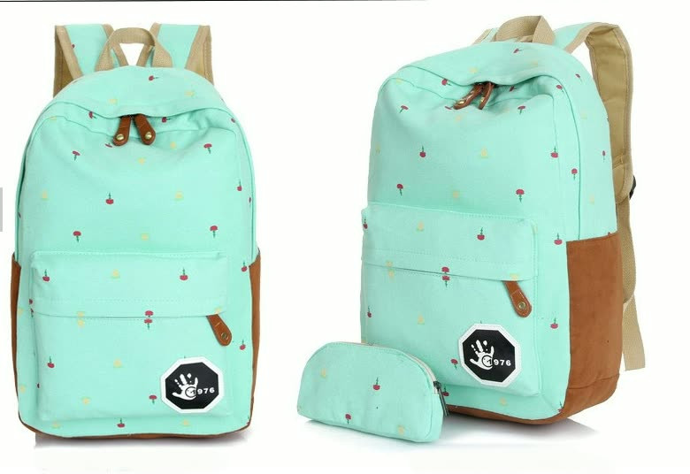 Стильный рюкзак для девушек (+пенал в комплекте)