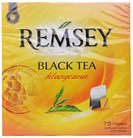 Черный чай в пакетиках Remsey Классический 75 шт.
