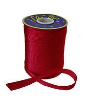 Косая бейка (атласная) - цвет бордовый