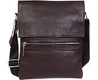 Стильная мужская сумка из натуральной кожи коричневая ALVI av-99black