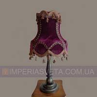 Светильник настольный декоративный ночник Украина одноламповый с абажуром LUX-465024
