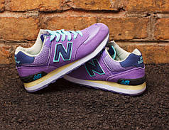 "Кроссовки New Balance 574 ""Purple/Navy Blue"""