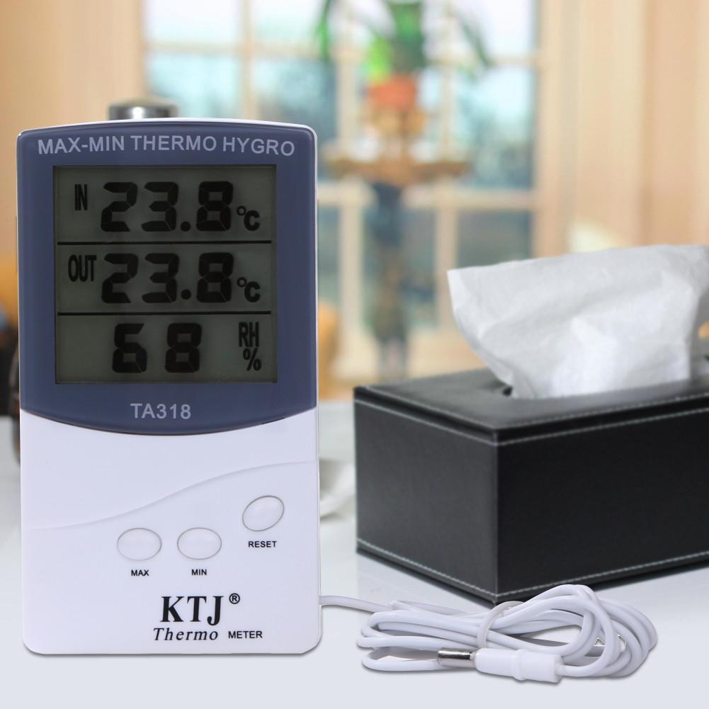 Термометр - гигрометр с внешним проводным датчиком KJT  TA318