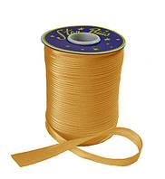 Косая бейка (атласная) - цвет золотистый