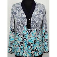 Нарядная женская блуза больших размеров р.50,52,54,56,58,60