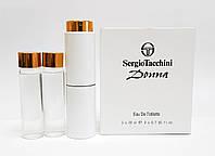 Мини парфюм Sergio Tacchini Donna (Серджио Таччини Донна) + 2 запаски, 3*20 мл.