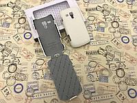 Кожаный чехол флип и накладка Melkco для Samsung Galaxy S S7562 белый