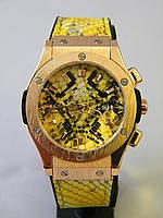 Часы мужские Hublot Big Bang Boa Bang желтый