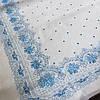 Ситец платочный, головной платок с голубой каймой, ширина 80 см