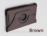 Вращающийся коричневый чехол для ASUS MeMO Pad 8 ME180A из синтетической кожи.