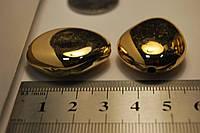 Бусина пластиковая под метал золото