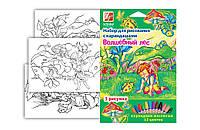 """Набор для рисования карандашами """"Луч"""" """"Волшебный лес"""" 21С1367-08"""