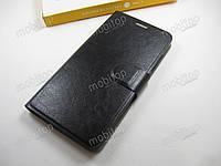 Кожаный чехол Xiaomi Redmi Note 2 (черный)