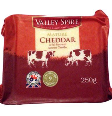 Valley Sprie Cheddar Сыр Валли Спри Чеддер  250г.