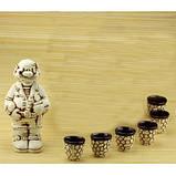 Бар глобус - набор керамика 8 предметов, бронза., фото 2