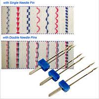 Набор из 3-х двойных игл 2/90, 3/90, 4/90 для бытовых швейных машин