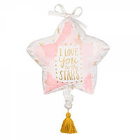 Музыкальный мобиль в кроватку I Love You To The Stars Pink / Swan Lake - Blankee