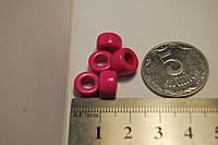 Бусина пластиковая для браслетов  ярко розовая
