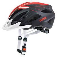 Велосипедный шлем Uvex Viva 2, чёрно-красный матовый 56-62