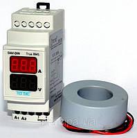 Мультиметр до 300 А вольтметр амперметр особо точный DIN рейку дин цифровой щитовой электронный шкаф TENSE