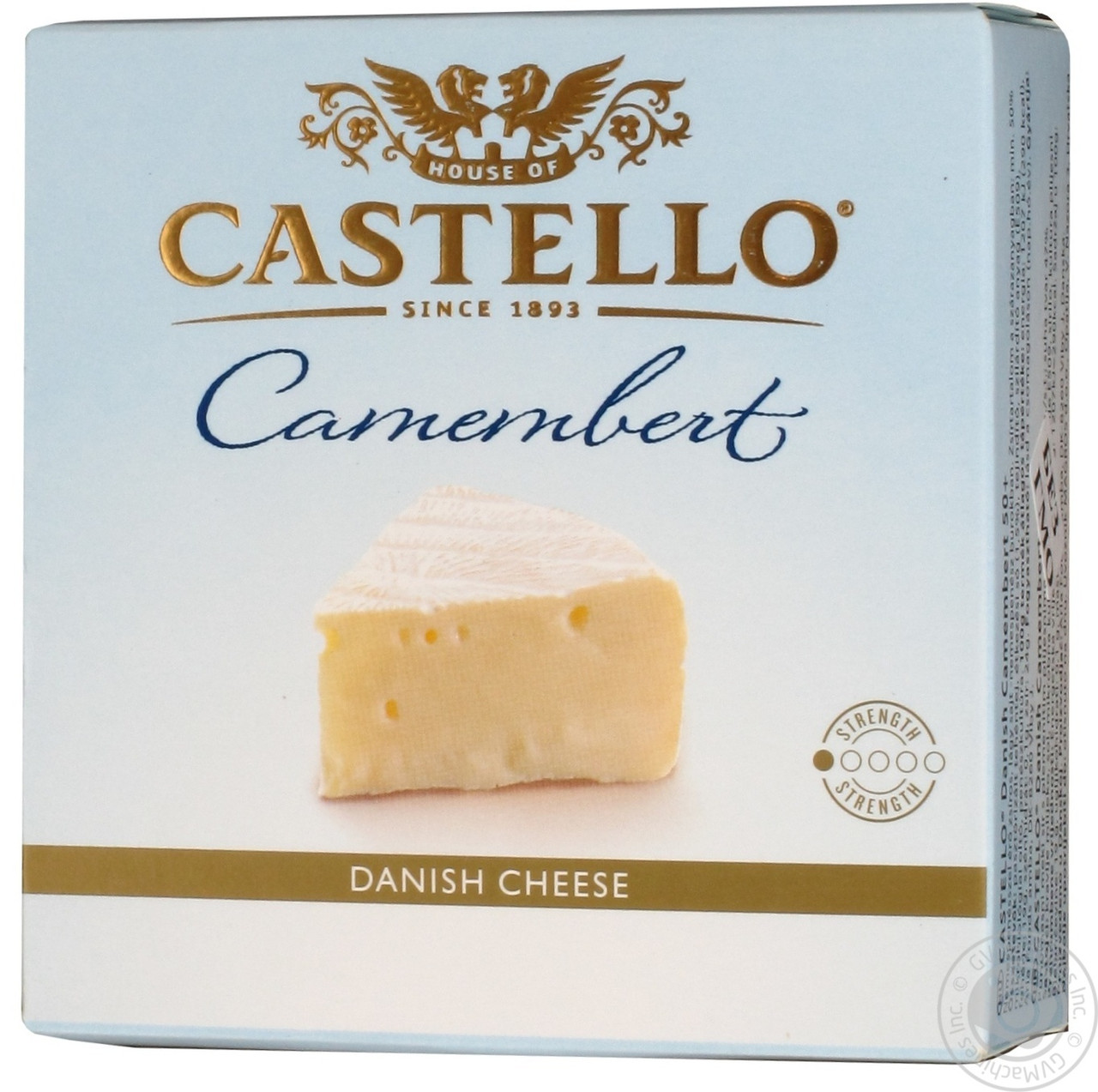 Castello Camembert Сыр Кастелло камамбер мягкий с белой плесенью 50% 125г Дания